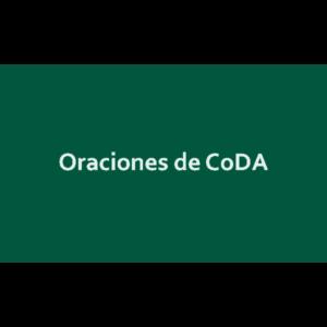 Oraciones de CoDA